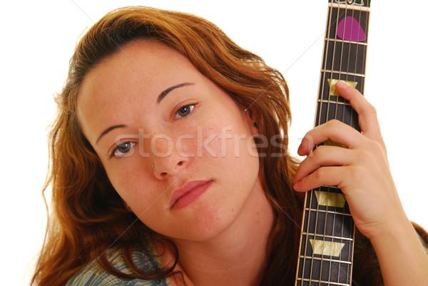 Mujer guitarra atractivo femenino Foto stock © elvinstar