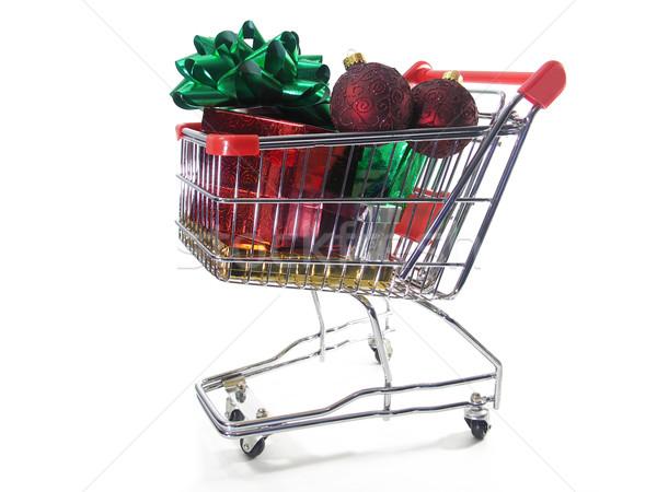 Navidad compras paquetes adornos arco miniatura Foto stock © elvinstar