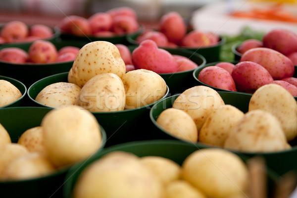 販売 赤 白 農民 市場 ストックフォト © elvinstar