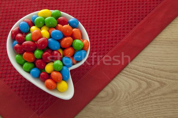 Colorido doce elegante tigela tabela chocolate Foto stock © elvinstar