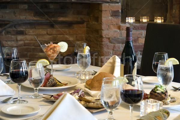 Elegant meal at home Stock photo © elvinstar