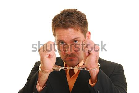 Handcuffed business man Stock photo © elvinstar