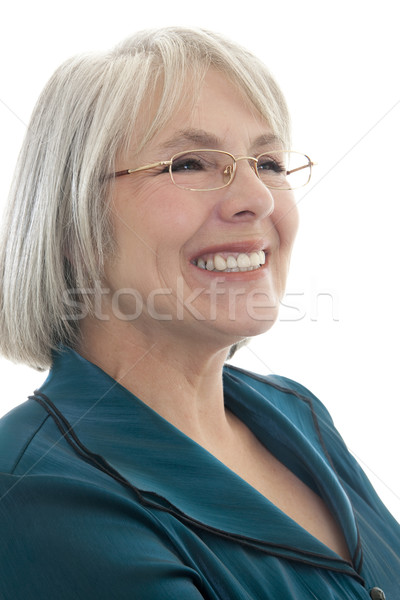 Boldog érett nő érett vonzó kaukázusi nő Stock fotó © elvinstar
