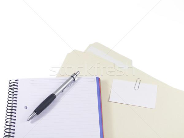 ügyfél akták toll notebook mappák névjegy Stock fotó © elvinstar