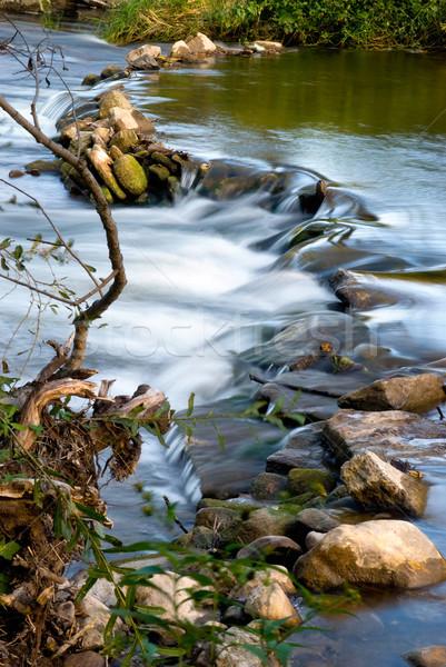 Folyam hdr kövek kicsi természet szépség Stock fotó © elvinstar
