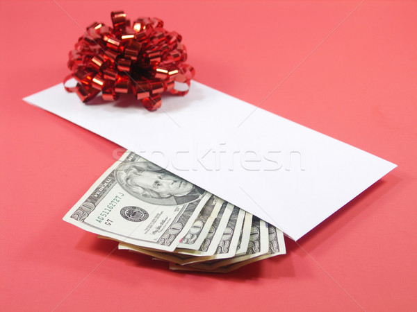 Perfeito dom vermelho envelope vinte Foto stock © elvinstar