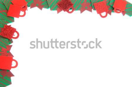 ünnep keret hab ajándékok készít fehér Stock fotó © elvinstar