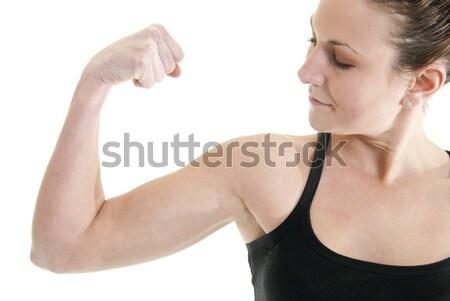 Caber feliz atraente caucasiano mulher mulheres Foto stock © elvinstar