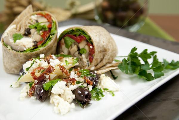 Elegant vegetable wraps with salad Stock photo © elvinstar