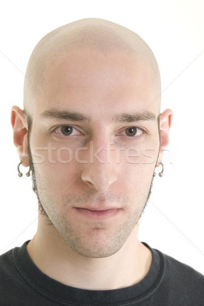Sério retrato caucasiano masculino sozinho adulto Foto stock © elvinstar