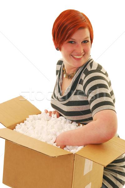 Happy delivery Stock photo © elvinstar