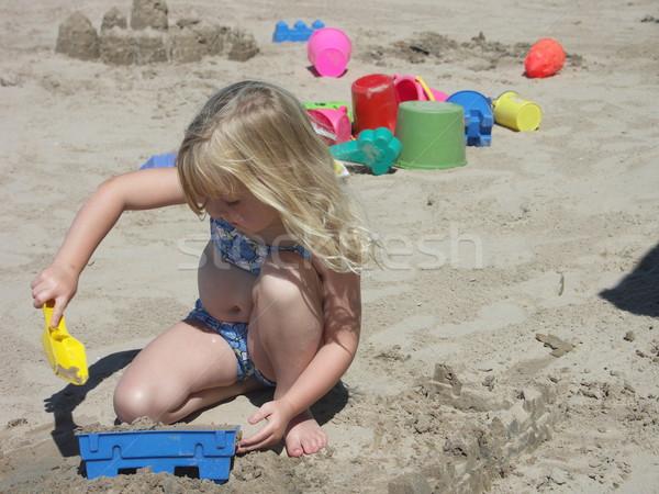 I am building a castle Stock photo © elvinstar