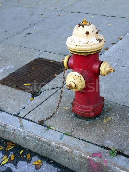 огня улице конкретные тень безопасности безопасной Сток-фото © elvinstar