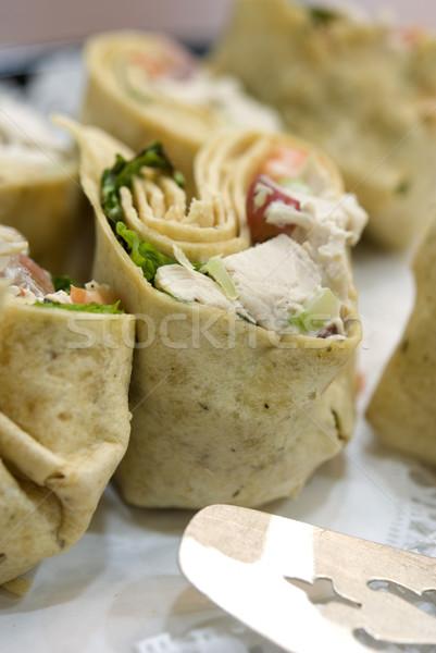 Chicken salad wraps Stock photo © elvinstar