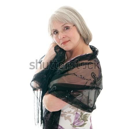 зрелый привлекательный кавказский женщину платье Сток-фото © elvinstar