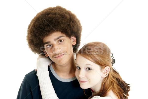 カップル かわいい 白人 十代の少女 代 彼氏 ストックフォト © elvinstar