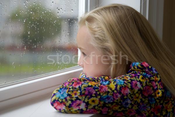 Dentro jovem loiro menina olhando Foto stock © elvinstar