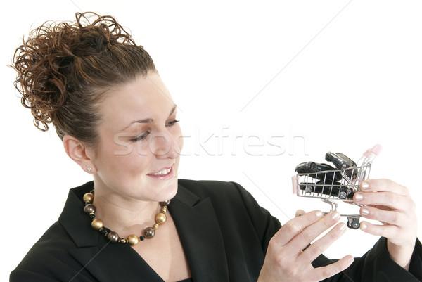 Feminino compras carros atraente caucasiano mulher Foto stock © elvinstar