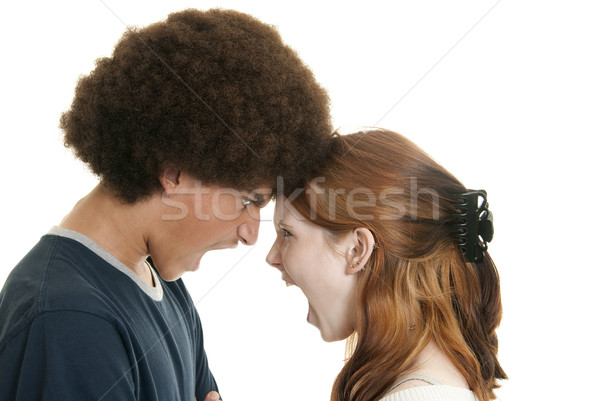 Mixed-race couple arguing Stock photo © elvinstar