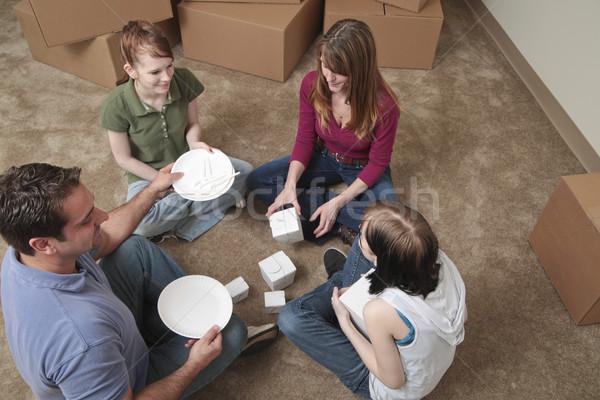 Primeiro refeição família piso Foto stock © elvinstar