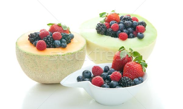 свежие фрукты Ягоды фрукты здоровья обед столовой Сток-фото © elvinstar