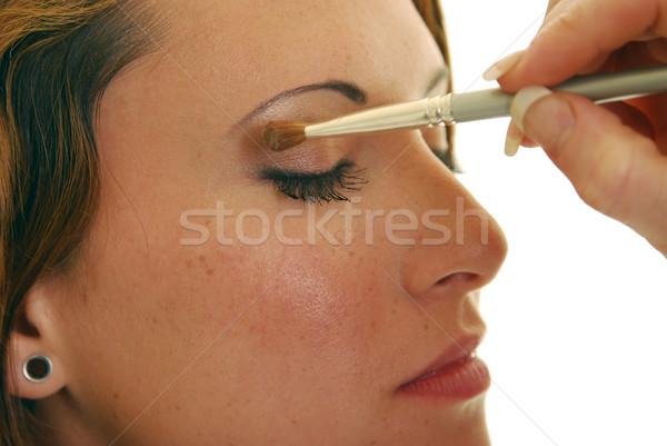 Sombra de ojos mujer atractiva maquillaje nina Foto stock © elvinstar