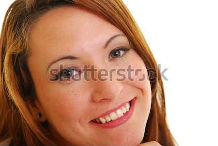 Bela mulher retrato atraente caucasiano mulher sorrindo beleza Foto stock © elvinstar