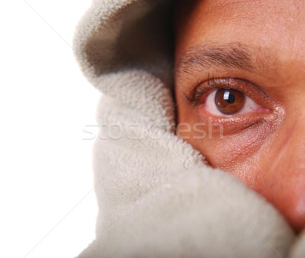 African-American man warming up Stock photo © elvinstar