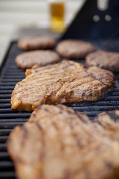 Grilling meat Stock photo © elvinstar