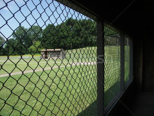 Ver olhando fora beisebol vazio campo Foto stock © elvinstar