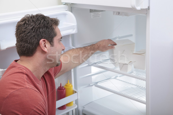 Bachelor's fridge Stock photo © elvinstar