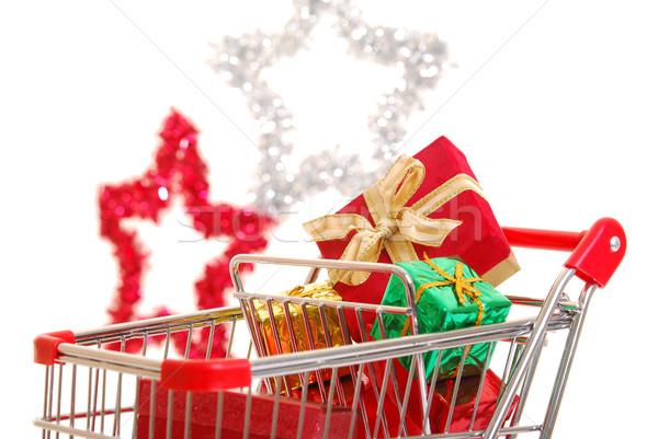 Christmas shopping side view Stock photo © elvinstar