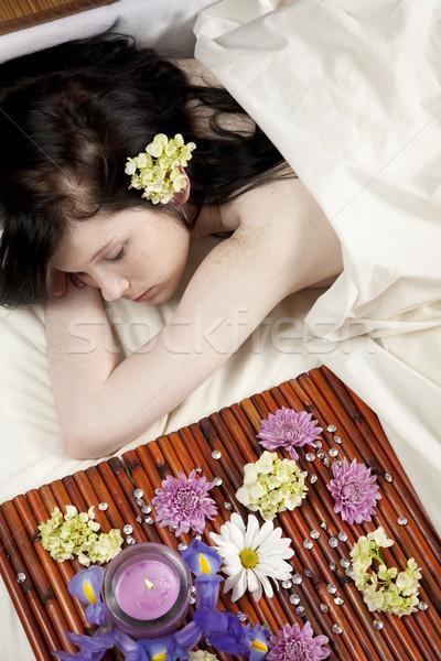 Bastante spa nina jóvenes caucásico mujer Foto stock © elvinstar