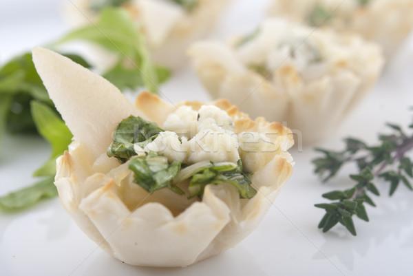 Elegante pereira aperitivo aperitivos prato raso Foto stock © elvinstar