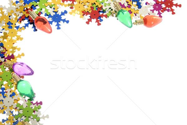 Vacaciones marco adornos blanco Foto stock © elvinstar
