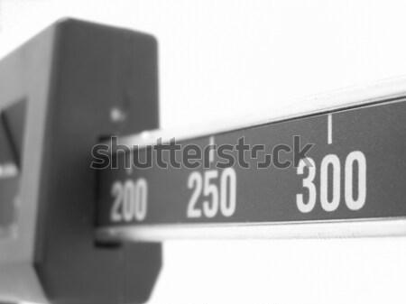 Preto e branco escala macro fitness médicos Foto stock © elvinstar