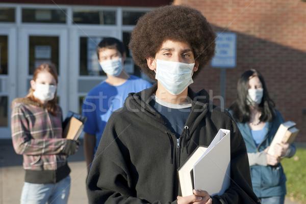 Swine flu at school Stock photo © elvinstar
