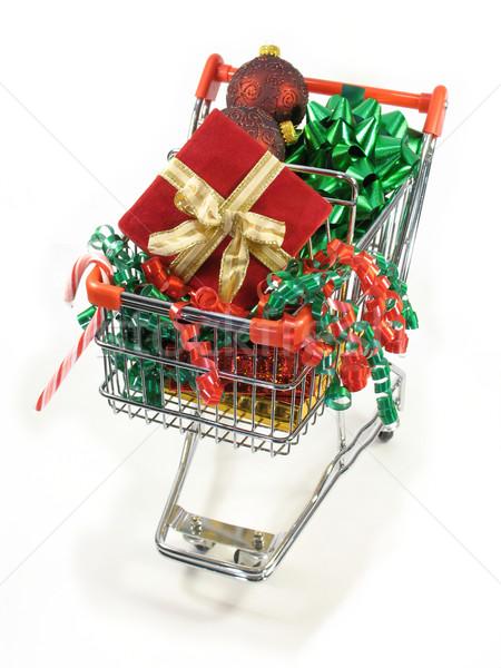 Vásárlás karácsony csomagok díszek cukorka sétapálca Stock fotó © elvinstar