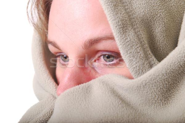 Woman warming up Stock photo © elvinstar
