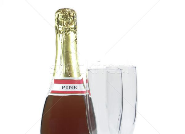 Pronto celebrar champanhe garrafa dois Foto stock © elvinstar