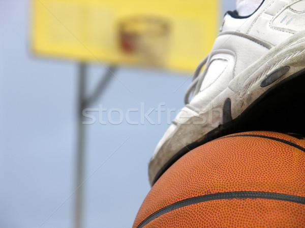 Attesa girare piedi top basket Foto d'archivio © elvinstar