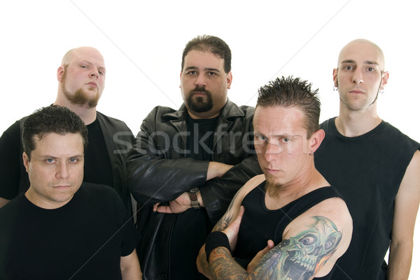 Heavy metal band groep kaukasisch mannen Stockfoto © elvinstar