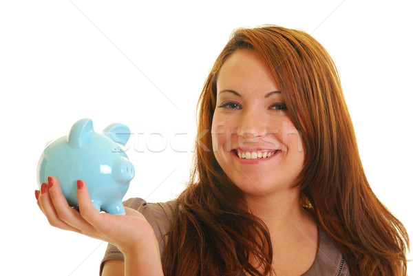 Feliz guardar hermosa sonriendo caucásico mujer Foto stock © elvinstar