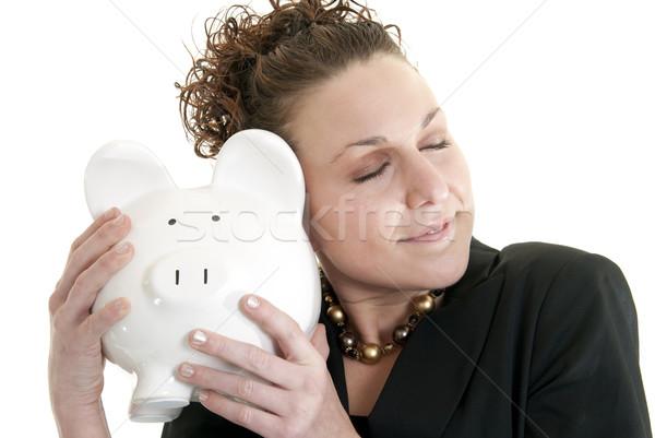Amor salvar belo sorridente caucasiano mulher Foto stock © elvinstar