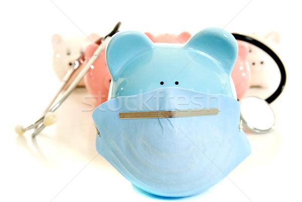 Sertés influenza malac bankok sztetoszkóp gyógyszer Stock fotó © elvinstar