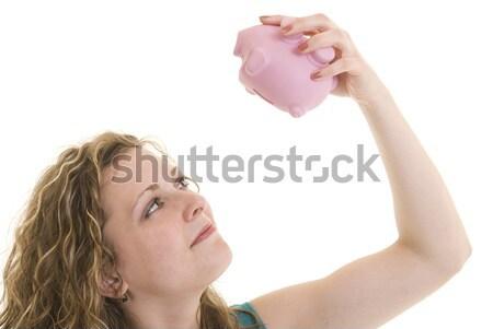Meu dinheiro atraente caucasiano mulher Foto stock © elvinstar
