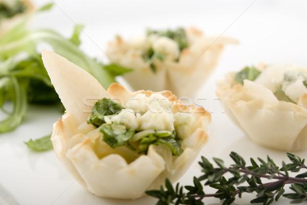 Elegante pera aperitivo aperitivos placa superficial Foto stock © elvinstar