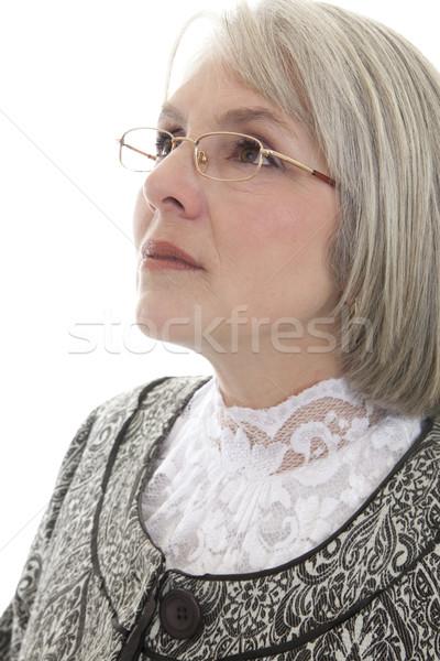 Sério mulher madura maduro atraente caucasiano mulher Foto stock © elvinstar
