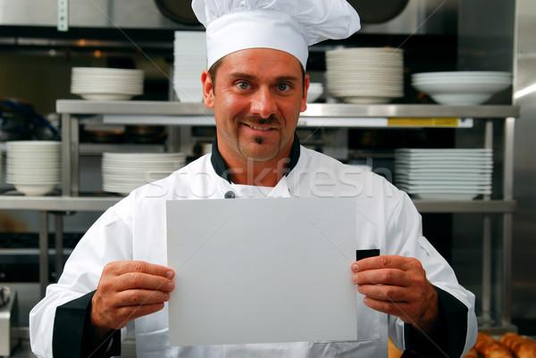 Chef atraente caucasiano comercial Foto stock © elvinstar
