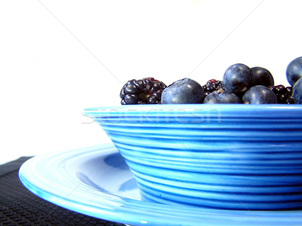 bowl of black and blue Stock photo © elvinstar